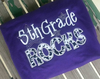 5th Grade Rocks School Shirt Teacher Student Shirt