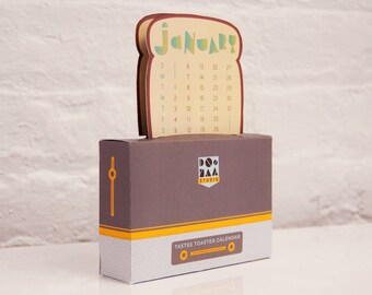 Tastee Toaster Desktop Calendar 2017 (Paper Toy)
