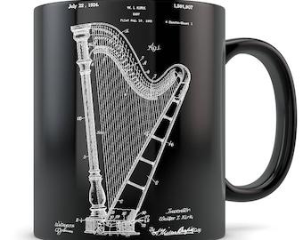 Harp gift, harp mug, harp, harp gift idea, harp gift for men, harp gift for women, harp teacher gift, harp themed gift, harp coffee mug