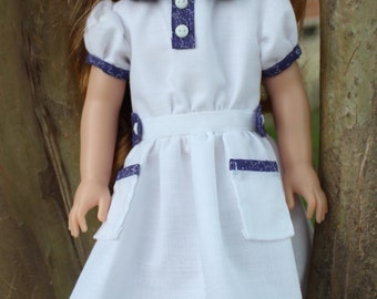 "14.5"" Doll Clothes 1930's Style Dress Fits American Girl Wellie Wishers + Heart4Heart Dolls"