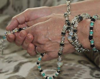 Rose Petal Bead Rosary