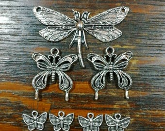 The silver butterfly set, fairy woodland themed