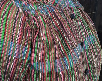 Technicolour vintage 70s dress, size M, sophisticated and cool style