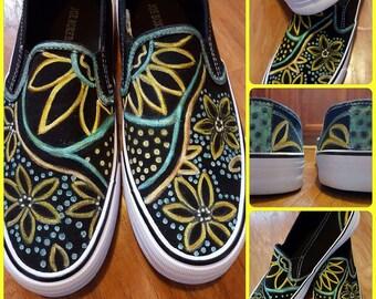 Custom designed sneakers Size 9