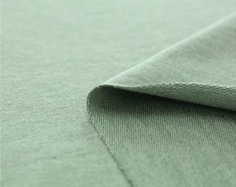Franse Baby Terry Knit stof groen door de werf