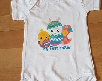 My first Easter, baby Easter top, baby Easter romper, first Easter tshirt, Easter bodysuit, Easter baby vest, baby Easter bunny, Easter gift