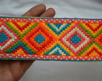 Sari Border Trim By The Yard Indian Laces fabric trims and embellishments Embroidered Trim Sewing Crafting Trim Decorative Trimmings