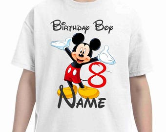Mickey mouse birthday t-shirt- Mickey Birthday t-shirt