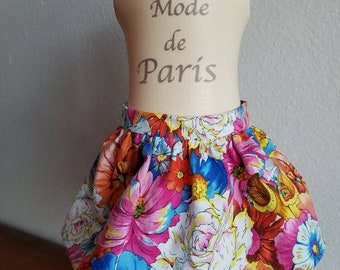 18 inch doll clothes floral skirt tropical print fitted waist