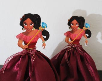 Princess Elena of Avalor centerpiece, princess Elena party decoration 8 inches