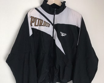 Purdue University Retro Reebok Zip Up Windbreaker // 80s // Purdue // Purdue Windbreaker // Reebok // Retro Reebok // Purdue Jacket // Large
