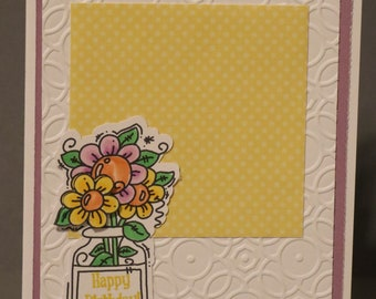 Jar Full of Flowers Card