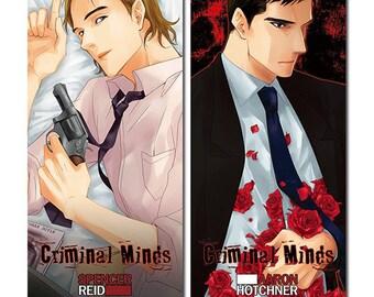 Criminal Minds - Illust card - Aaron Hotchner , Spencer Reid