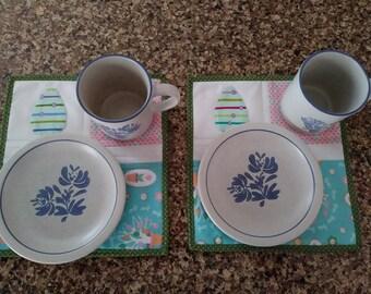 Easter Egg Mug Rug Mini Quilt Set (2 Pack)