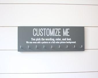 Customizable Medium Medal Holder  - You design it, we make it!