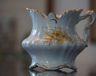 White Victorian Shaving Mug/ The Colonial/ Yellow Daffodils/ 1157