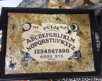 Decoupage Ouija Board Decorative Tray
