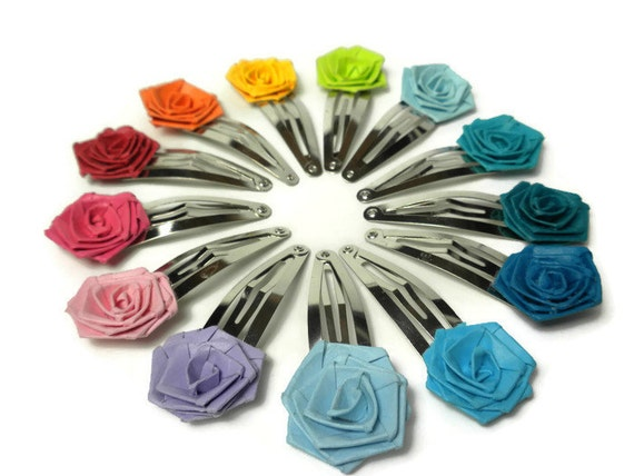 Baby girl hair clip rose hair accessory quilled rose hair mightylinksfo