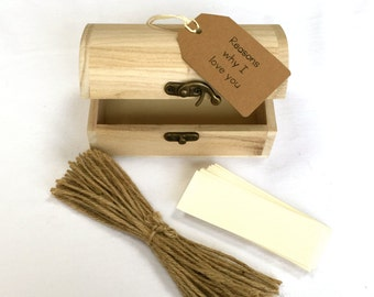 Wooden Memory Chest Kit,  Anniversary Gift For Her, For Him, For Girlfriend or Boyfriend, Husband or Wife, personalise
