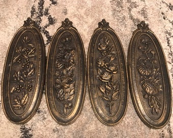 Vintage 1974 Syroco Set of 4 Wall Hangings Dart Ind. Decor