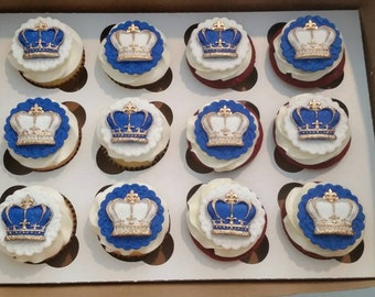 Prince Crown cupcake toppers