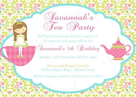 tea party free printables