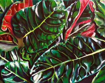 """Hawaii Leaves 8""""x10"""" fine art archival print with 11""""x14"""" double matting in white with black trim. fine art print on archival luster paper"""
