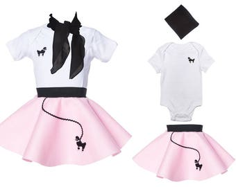 3 pc BABY/Infant (3-12 month) 50's POODLE SKIRT outfit
