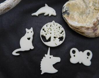 Charm / pendant / object 3 D / custom plastic charm / charm to order