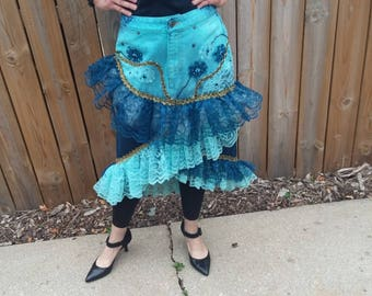 Re Constructed Denim skirt