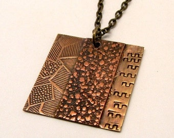 Mixed metal jewelry necklace pendant.Steampunk jewelry necklace.