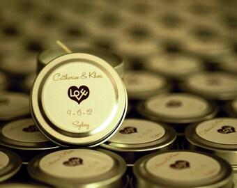 Wedding Favor Candles Travel Tin Gift