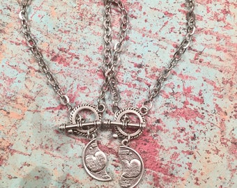 Best friends, couple bracelet, Mitzpah bracelet for her, best friends, love, couple, female/female