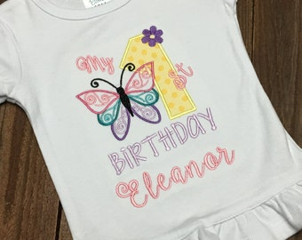 My first birthday shirt, butterfly first birthday shirt, Butterfly Birthday,  First Birthday Shirt, Cake Smash, Birthday Shirt