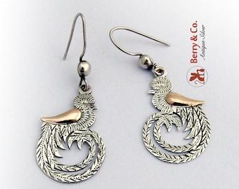 SaLe! sALe! Bird Dangle Earrings Sterling Silver
