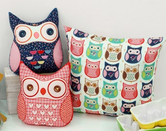 Cotton Fabric Owl By The Cut