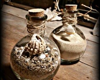 Beach Sand Glass Bottles