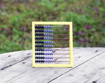 Vintage plastic abacus, Small abacus, Math counting tool, School abacus, Primitive math, Children abacus, Office decor