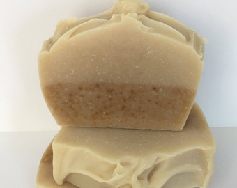 Natural soap bar, Carrot & Honey Soap bar, Handmade Soap, Honey Soap, carrot Soap, Unscented soap, Fragrance free soap