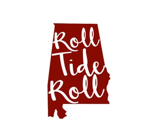 University of Alabama Decal 5x7