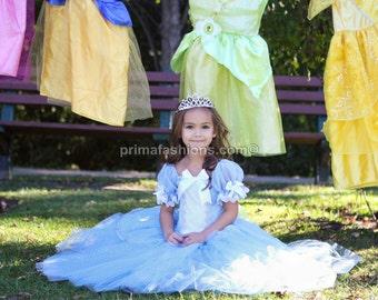 Cinderella costume FULL LENGTH, princess custom costume 5 Cinderella tutu