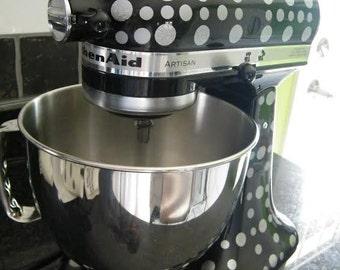 Kitchen Aid Vinyl Decals-Polka Dots, Circular Vinyl Appliance Stickers,  Dual Color Mixer Decals