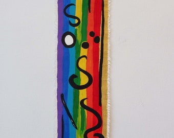 Nomad RAINBOW canvas / canvas original 45 cm x 13 cm