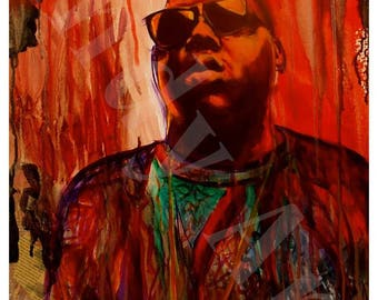 Notorious BIG biggie print artwork print for wall wall art