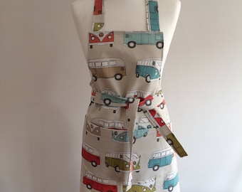 Adult's Apron - VW Camper Vans - VW Officially approved fabric