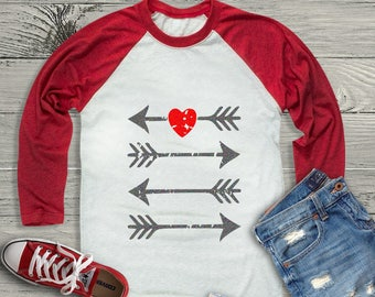 Arrow Heart Distressed Grunge Valentine svg, Kids Valentines Day SVG, DXF, EPS shirt, Boho Cricut Silhouette