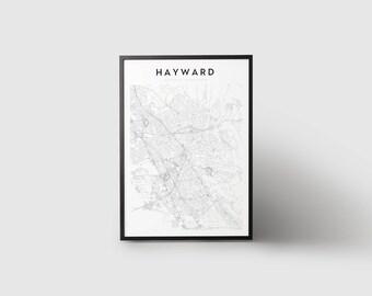 Hayward Map Print