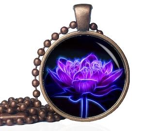 Flower Jewelry for Wife - Wife Flower Jewelry - Yoga Lotus Necklace - Lotus Yoga Necklace - Lotus Flower - Zen Lotus Jewelry - Lotus Jewelry