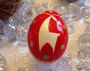 Ukrainian egg, handmade, pysanky, deer design