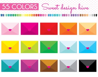 Envelopes Clipart, Letter clipart, mail clipart,envelope clipart, Love letter, post office, Rainbow, Planner Stickers, PL0085